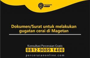 Dokumen, Surat untuk melakukan gugatan cerai di Magetan