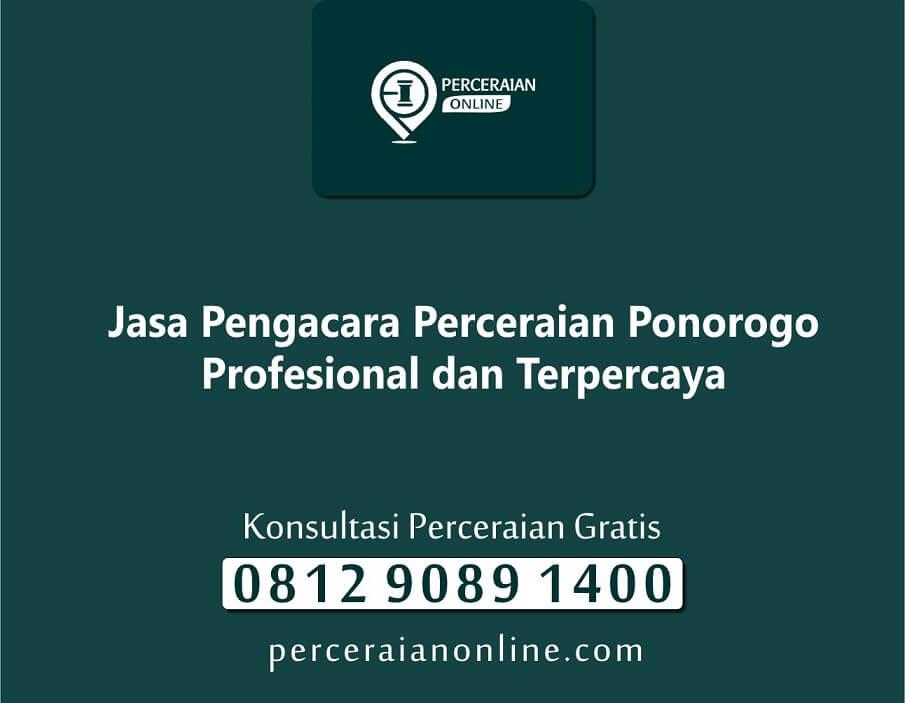 7. Jasa Pengacara Perceraian Ponorogo Profesional dan Terpercaya